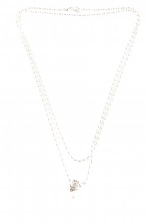 Pandora Necklace silver-colored-dusky pink Herzmuster casual look