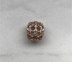 Pandora Charm gold-colored-pink