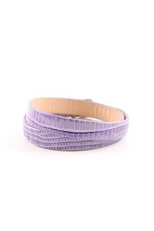 Pandora Leather Bracelet lilac animal pattern casual look