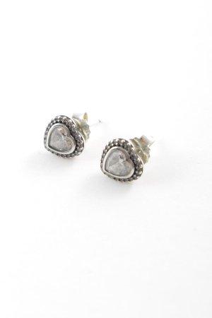 Pandora Zarcillo color plata Herzmuster elegante