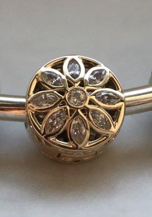 Pandora Opulent Flower Clip 585 Gold Zirkonia