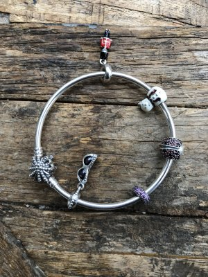 Pandora Original Silber Armreif Kristall 19 mit 5 Charms - Neu