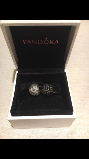 Pandora Pave kugeln in weiß und schwarz