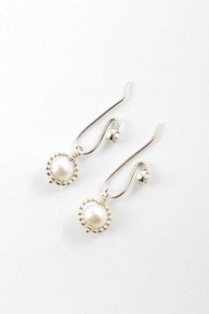 Pandora Pearl Earring silver-colored-natural white elegant