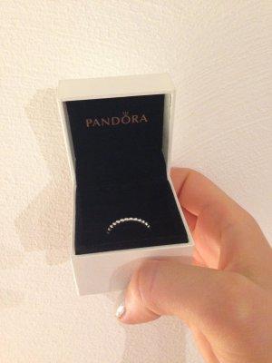 Pandora Perlenring Kugelring silber