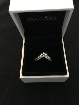 Pandora Anillo de plata color plata-blanco