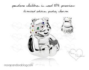 Pandora Pudsey Charm 2016 sehr selten und mit Zertifikat