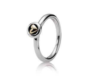 Pandora Ring, Bicolor aus Silber ( 925) und God (14K)