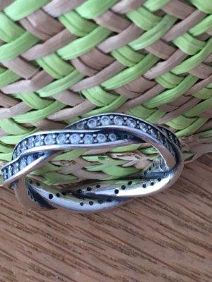 Pandora Ring -geflochtener Pavé-Ring