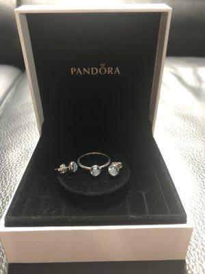 Pandora Anillo de plata color plata-azul pálido