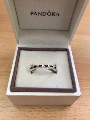 Pandora Ring lila Silber schmal