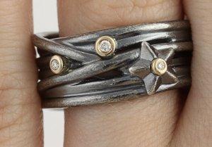 Pandora Anello d'argento grigio chiaro-grigio Argento