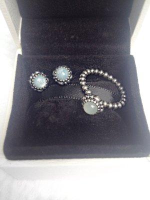 Pandora Ring & Ohrstecker Set