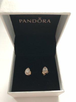 Pandora Orecchino a vite color oro rosa-bianco