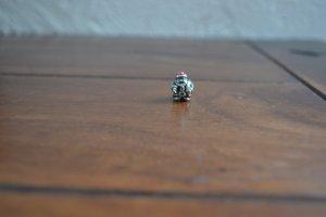 Pandora Colgante color plata-rojo ladrillo plata verdadero
