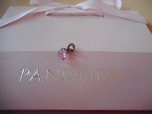 Pandora Ciondolo rosa pallido-rosa chiaro Argento