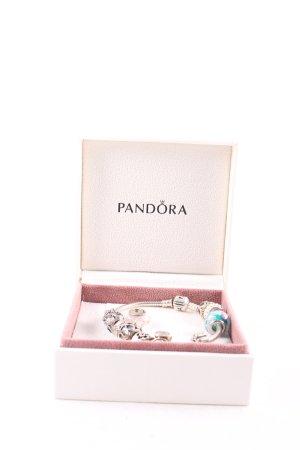 Pandora Silver Bracelet multicolored glittery