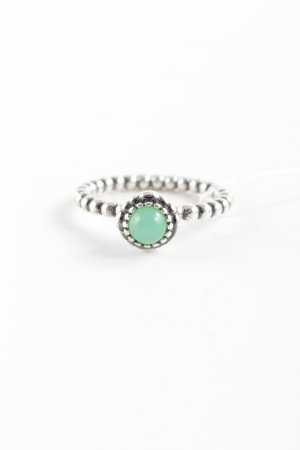 Pandora Silver Ring silver-colored-pale green classic style
