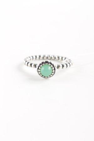 Pandora Anillo de plata color plata-verde pálido estilo clásico