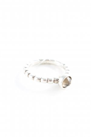 Pandora Silver Ring silver-colored-light brown elegant