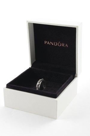 Pandora Bague en argent argenté-noir style décontracté