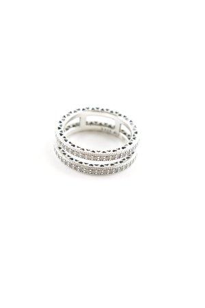 Pandora Silberring silberfarben-weiß Elegant