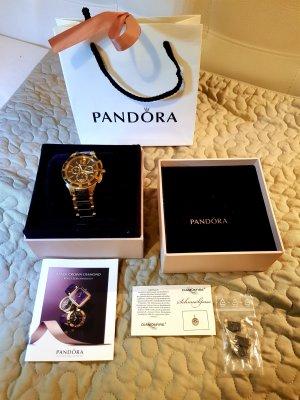 Pandora UHR schwarz-Gold mit Lunette Baget Steine