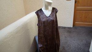 Long Top dark brown polyester