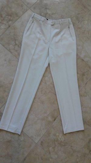 Pantalon à pinces blanc-blanc cassé