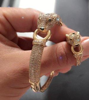 Panthere Armreif und Ring gelb Gold 18karat