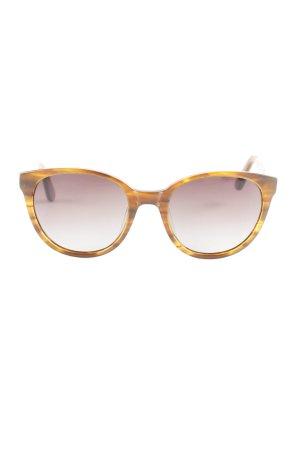 Panto Brille braun Holz-Optik