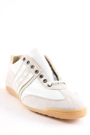 Pantofola d'oro Chaussures à lacets beige clair-blanc style décontracté