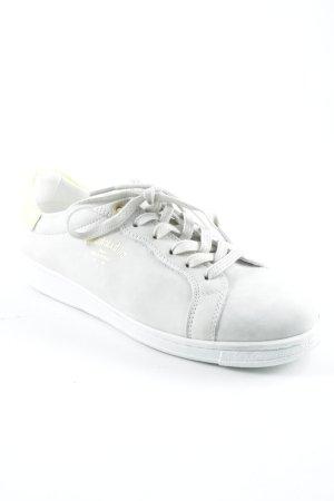 Pantofola d'oro Schnürsneaker hellgrau-neongelb sportlicher Stil
