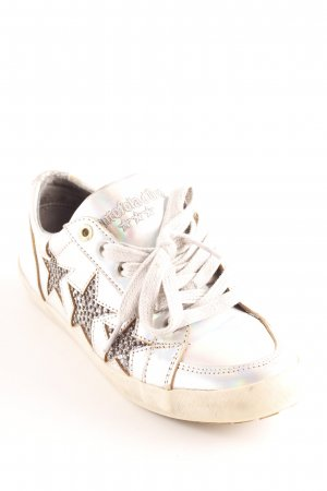 Pantofola d'oro Schnürsneaker silberfarben-dunkelgrau Sternenmuster