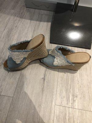 Guess Heel Pantolettes white-light blue