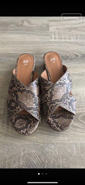 H&M Heel Pantolettes brown