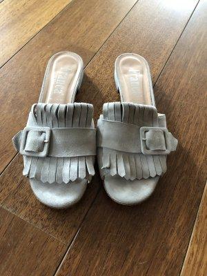 Franca Heel Pantolettes light grey