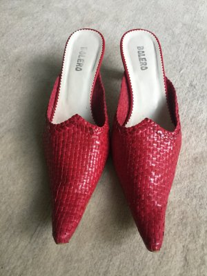 Heel Pantolettes raspberry-red