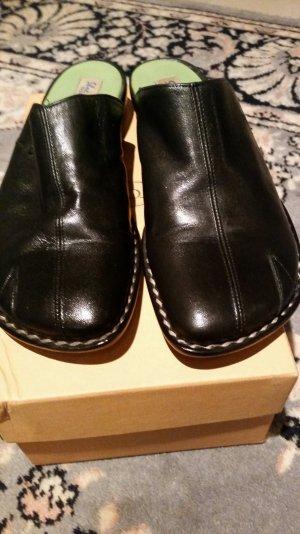 Sabot noir cuir