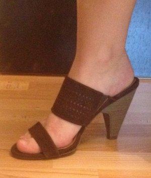 Pantolette / Sandale mit Absatz