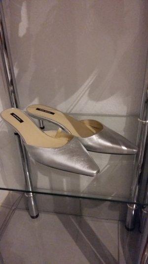 Pantolette Silber - Zara