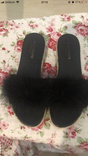 Lazamani Heel Pantolettes black