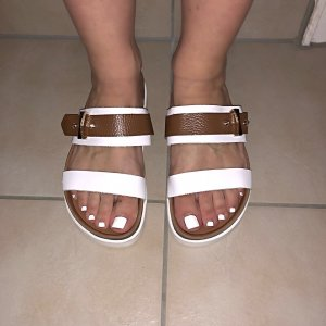 Mules white-brown