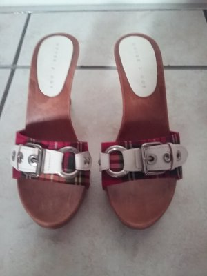 Heel Pantolettes white-red