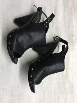 Graceland Heel Pantolettes black