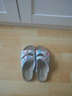 Sandalo con tacco multicolore Sintetico