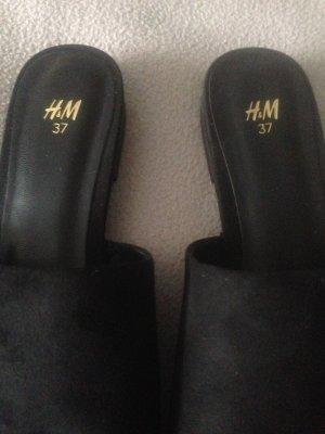 H&M Babuchas negro
