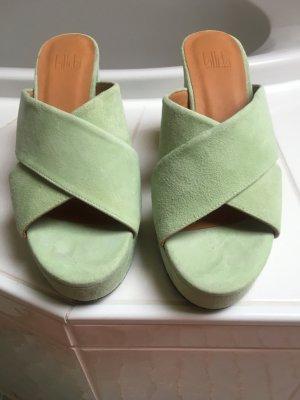Billi Bi Sandalo con tacco verde chiaro-verde pallido