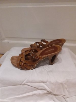 Graceland Heel Pantolettes brown