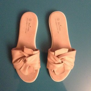 Mules rose-gold-coloured